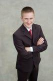 Ritratto di giovane uomo d'affari felice Immagini Stock