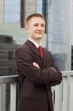 Ritratto di giovane uomo d'affari felice Immagini Stock Libere da Diritti
