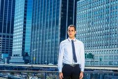 Ritratto di giovane uomo d'affari a New York Immagine Stock