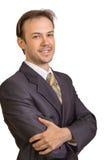 Ritratto di giovane uomo d'affari sorridente Immagini Stock