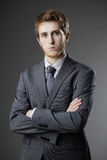 Ritratto di giovane uomo di affari Immagini Stock