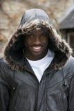 Ritratto di giovane uomo di colore sorridente Fotografia Stock
