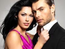 Ritratto di giovani belle coppie nell'amore Immagine Stock