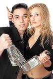 Ritratto di giovani coppie allegre Fotografie Stock
