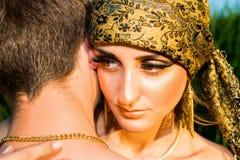Ritratto di giovani coppie di amore Immagine Stock
