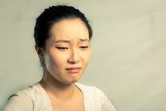 Ritratto di gridare della donna Fotografie Stock Libere da Diritti