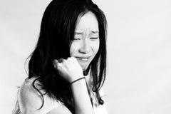 Ritratto di gridare della giovane donna Immagine Stock Libera da Diritti
