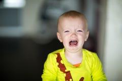 Ritratto di gridare il ragazzo del bambino Fotografia Stock