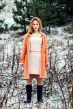 Ritratto di inverno della ragazza Immagini Stock Libere da Diritti
