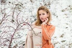 Ritratto di inverno della ragazza Immagini Stock