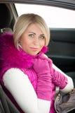 Ritratto di inverno della ragazza sexy Fotografia Stock Libera da Diritti