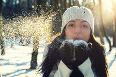 Ritratto di inverno di bella ragazza Immagine Stock Libera da Diritti