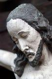 Ritratto di Jesus di legno fotografia stock