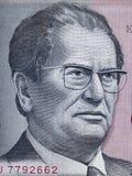 Ritratto di Josip Broz Tito sul bankno 1985 di dinara della Iugoslavia 5000 fotografia stock libera da diritti