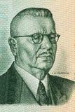 Ritratto di Juho Kusti Paasikivi da soldi finlandesi Fotografie Stock Libere da Diritti