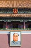 Ritratto di Mao al portone di Tiananmen, Pechino Fotografia Stock Libera da Diritti