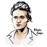 Ritratto di Marie Curie illustrazione di stock