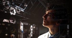 Ritratto di medico bello Immagini Stock Libere da Diritti