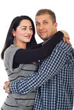 Ritratto di metà di coppie adulte Fotografie Stock