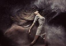 Ritratto di modo del ballerino di balletto Fotografie Stock
