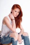 Ritratto di modo di bella ragazza Fotografie Stock Libere da Diritti