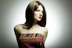 Ritratto di modo di giovane donna Fotografia Stock