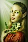 Ritratto di modo di giovane donna sexy Fotografie Stock Libere da Diritti
