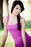 Ritratto di modo di giovane donna sexy del brunette Fotografie Stock