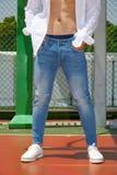 Ritratto di modo, uomini, jeans Fotografia Stock
