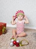 Ritratto di Natale del neonato Immagini Stock