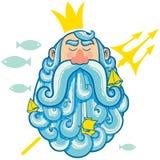 Ritratto di Nettuno royalty illustrazione gratis