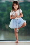 Ritratto di piccola ballerina abile fotografia stock libera da diritti
