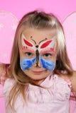 Ritratto di piccola farfalla Fotografie Stock Libere da Diritti