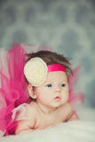 Ritratto di piccola neonata molto dolce Fotografia Stock Libera da Diritti