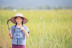 Ritratto di piccolo agricoltore sorridente della ragazza Fotografia Stock Libera da Diritti