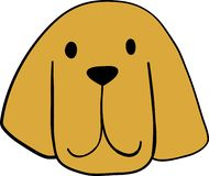 Ritratto di piccolo Bloodhoundl sveglio Amico del cane Isolato su priorit? bassa bianca illustrazione vettoriale