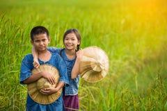 Ritratto di piccolo giovane agricoltore sorridente Immagini Stock