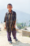 Ritratto di piccolo ragazzo nepalese non identificato Immagine Stock Libera da Diritti