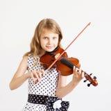 Ritratto di piccolo violinista Fotografia Stock