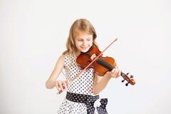 Ritratto di piccolo violinista Immagine Stock