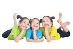 Ritratto di posa sveglia delle bambine immagini stock libere da diritti