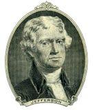 Ritratto di presidente Thomas Jefferson fotografia stock libera da diritti