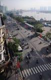 Ritratto di primo mattino di Ho Chi Minh City, Vietnam Immagine Stock Libera da Diritti