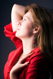 Ritratto di profilo della giovane donna Immagine Stock