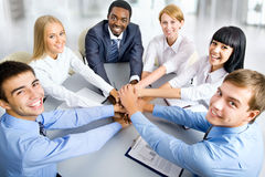 Ritratto di riunione del gruppo di affari Immagini Stock