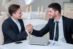 Ritratto di riusciti ed uomini d'affari motivati Immagini Stock Libere da Diritti