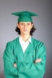 Ritratto di riuscito uomo il suo giorno di graduazione Immagine Stock Libera da Diritti