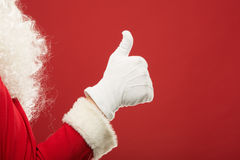 Ritratto di Santa Claus felice con un sacco enorme Fotografia Stock Libera da Diritti