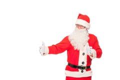Ritratto di Santa Claus felice con un sacco enorme Immagini Stock