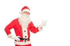 Ritratto di Santa Claus felice con un sacco enorme Fotografie Stock Libere da Diritti